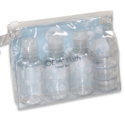 JODA Clear PVC Travel Bottle & Cream Pot Set