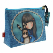 Santoro Eclectic Gorjuss Large Coated Accessory Case - Hush Little Bunny Design