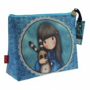 Santoro Eclectic Gorjuss Large Coated Accessory Case - Hush Little Bunny Design