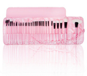 Professional 32pcs PINK Make Up Cosmetic Makeup Brushes Kit Set with Case