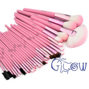Glow 30 Piece Makeup Brushes Set in Pink Case