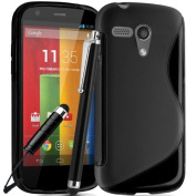 Motorola Moto G Premium TPU Hydro Gel Case Cover included Screen Protector and Polishing Cloth , 2 Capacitive Stylus Pen Multiple colour