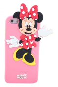 Hotsale 3D Disney Cartoon Minnnie Mouse Cute Rubber Phone Case Cover For Apple Iphone 4 4S 4G
