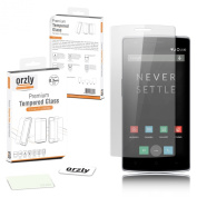 Orzly® - OnePlus ONE Premium Tempered Glass 0.24mm Protective Screen Protector for the Original Premier Launch Model of SmartPhone called 'ONE' by ONE PLUS (Alias