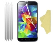 teKKno® (Pack of 5) LCD Screen Protectors Guards And Cleaning Cloths For The for Samsung Galaxy S5