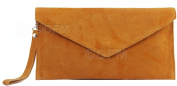 GFM Brand Italian Suede Large Envelope Shaped Clutch bag Purse handbag SDCLUTCH Available in 25 Colours
