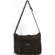 Womens Super Soft Nappa Leather Shoulder Bag / Handbag with Two Main Zipped Compartments