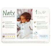 Naty by Nature Babycare Newborn Size 1 (4-11 lbs/2-5 kg) Nappies - 2 x Packs of 26