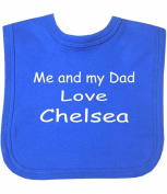 Me and my Dad Love Chelsea Velcro Baby Bib in 9 Colours - 100% Cotton
