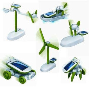 6 in 1 Educational 'do it yourself kit' Solar Kit to Build Robot Toy Car Plane Puppy Airboat Windmill