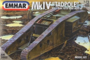 "Emhar WWI British Mk.IV ""Tadpole"" Tank with Rear Mortar - 1:72 Plastic Model Kit"