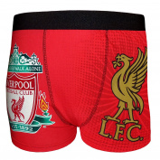 Liverpool FC Official Gift Mens Crest Boxer Shorts YNWA Liverbird