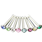 Thenice 8 Pcs 18g 1.0mm Nose Rings Stud Body Piercing