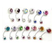 Thenice 12 Pcs 20g Women Earrings Navel Rings Stud Body Piercing Kit