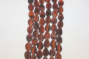 Genuine Stone Beads - 10x 14- Carved Leaf - High Quality Beads - 38cm - 41cm Long Strand - About 25-28 Beads Per Strand