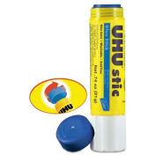 UHU - UHU Stic Permanent Clear Application Glue Stick, .2190ml, Blue, 6/Pack 99831 (DMi PK