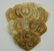 1 BLEACHED Peacock Feather Pad