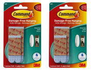 Command Water-Resistant Replacement Strips, 4-Medium, 8-Large