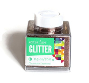 (Pack of 2) Advantus Corp Glitter 70ml Stackable Container (Chocolate Diamond