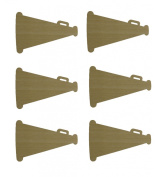 Megaphone Cut Outs Unfinished Wood Mini Megaphones Crafts 7.6cm Inch 6 Pieces MP001-06
