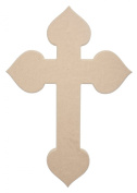 Spade Cross 60cm X 41cm Unfinished Ready to Paint Wood Wooden Stacked Craft