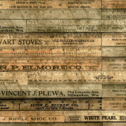Freespirit Fabrics Eclectic Elements-Tim Holtz 110cm Wide Rulers 100-Percent Cotton, Brown, 8-Yard