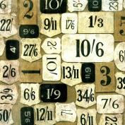 Freespirit Fabrics Eclectic Elements-Tim Holtz 110cm Wide Mercantile 100-Percent Cotton, Taupe, 8-Yard