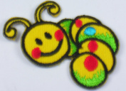 Smiley Worml iron on Embroidered Patch