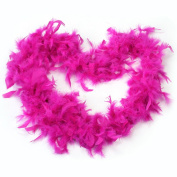 2M Rose Red Feather Boa Fluffy Party Decoration Fancy Costume Dress Up Prop New