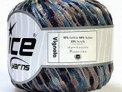 Sand & Sea Ice Vignola Shimmery Net Ribbon Yarn 29978
