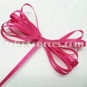 "Wedding Ribbon Solid Satin Ribbon Double Faced 1/8""(3mm) x 100YDS Fuschia - B4001FU"