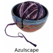 Yarn Bowl in Azulscape Glaze
