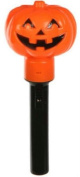 "6½"" Orange Plastic Pumpkin Torch Light Halloween Haunted Party Decoration Batteries Included"