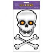 Skull and Crossbones 3D Gel Clings