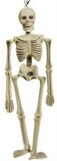 41cm Plastic Hanging Skeleton Scary Halloween Party Decoration Creepy Bones Prop