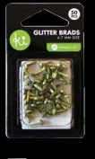 Ki Memories Mini Glitter Brads - Green