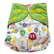HappyEndings Bamboo Charcoal AI2TM All-In-Two Cloth Nappy / Snap-in Insert