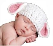 MSP Handmade Newborn Baby Photo Photography Props Crochet Crochet Knitted Prop Girl Boy Animal Lamb Hat Cap 0-12 Months