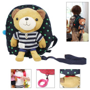 JAVOedge Toddler Safety Harness Backpack with Removable Stuffed Teddy Bear