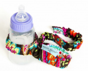 Dropper Stopper Sippy Cup & Toy Tether ~ Cocoa Paisley
