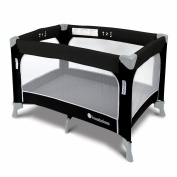 Foundations Worldwide SleepFresh Celebrity Portable Crib, Graphite