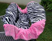 "Shopping Cart Cover ""Zebra & Pink"""