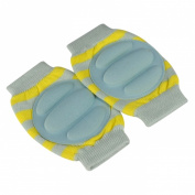 Baby Elbow Knee Toddler Pad to Protect Delicate Skin Stumping Around Stripe Yellow & Light Green