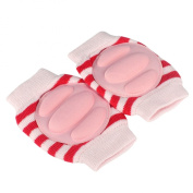 Baby Elbow Knee Toddler Pad to Protect Delicate Skin Stumping Around Stripe Red & White