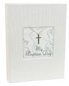 Stephan Baby Inspirational Keepsake Mini Photo Album with Silver Cross, My Baptism Day