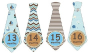 13-24 Months Monthly Baby Stickers Monthly Tie Stickers Second Year Boy Necktie Monthly Baby Boy Tie Stickers UNCUT Boy Ties Nautical Sailor Boat Anchor Plaid Argyle Stripes Waves Plaids Browns and Blues Baby Month Sticker