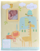"CR Gibson Stepping Stones ""Baby's World"" Baby's First Memory Book - Animals Theme New"