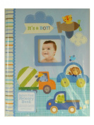"CR Gibson Stepping Stones ""It's A Boy"" Baby's First Memory Book - Transportation Theme New"