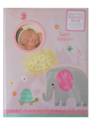 CR Gibson Stepping Stones Sweet Baby Girl Baby's First Memory Book W/Animals New