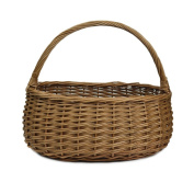 RURALITY Eco-friendly Willow Wicker Gift Storage Basket with Handle